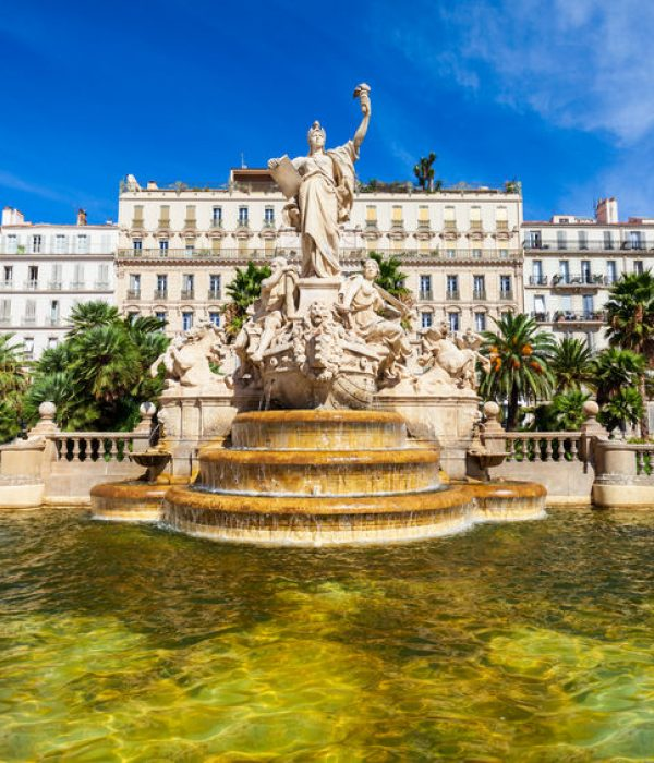 Freedom Square or Place de la Liberte in the centre of Toulon city in France