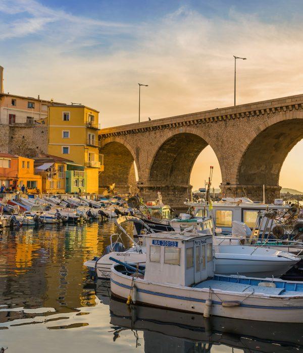 Vallon des Auffes port - Marseille France - travel and architecture background